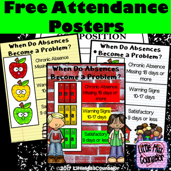 When Do Absences Become a Problem?  Free Attendance Posters