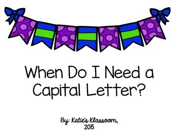 When Do I Need a Capital?