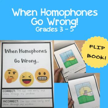 When Homophones Go Wrong! -- Grades 3 - 5