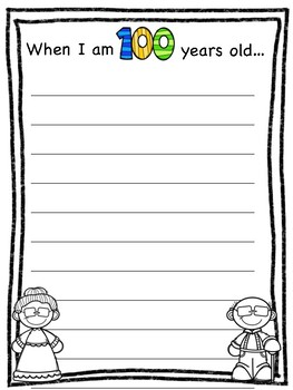 if i was 100 years old writing activity