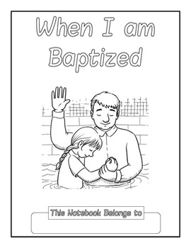 When I Am Baptized Copywork Notebook