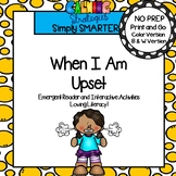 When I Am Upset Social Story Emergent Reader Book AND Inte