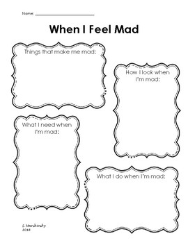 When I Feel Mad....