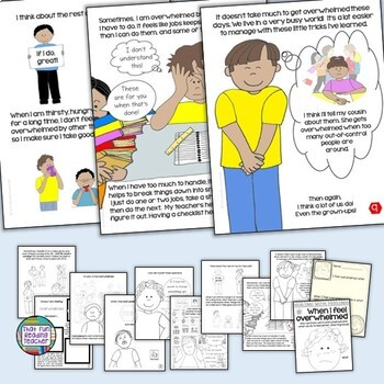 When I Feel Overwhelmed- a Dealing With Feelings storybook lesson starring boys!