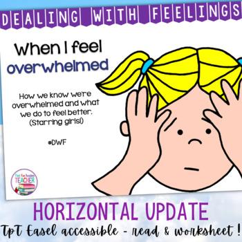 When I Feel Overwhelmed - Dealing With Feelings storybook lesson starring girls