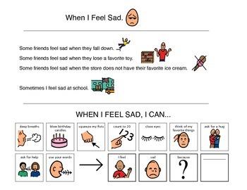 Social Story, When I Feel Sad - Autism VISUAL