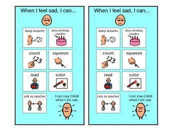 When I Feel Sad - Autism Visual
