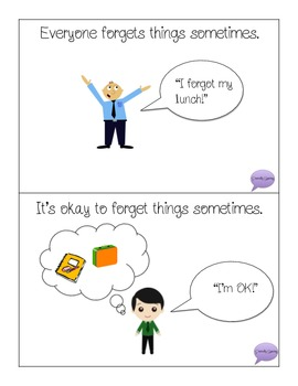 When I Forget Things - Social Story
