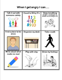 When I Get Angry - Behavior Strategies for Anger Management Poster EDITABLE