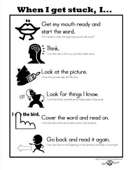 When I Get Stuck Poster (Guided Reading)