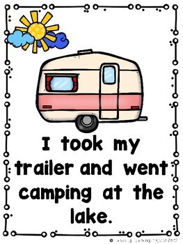When I Go Camping at the Lake  (An Emergent Reader and Teacher Lap Book)