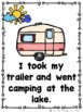 When I Go Camping at the Lake  (An Emergent Reader and Tea