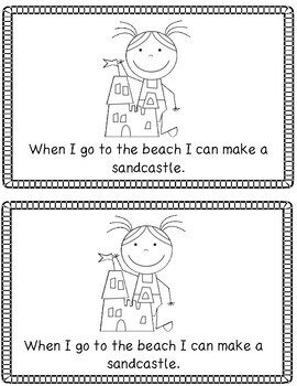 When I Go To the Beach Emergent Reader