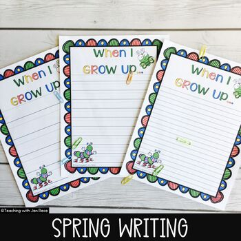 """Free Downloads - Spring Activities - """"When I Grow Up"""" Journal Page"""