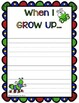 """Free Downloads - Spring Writing, """"When I Grow Up"""" Journal Page"""