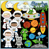When I Grow Up: Astronaut - CU Clip Art & B&W Set