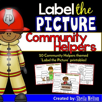 Community Helpers Label the Picture