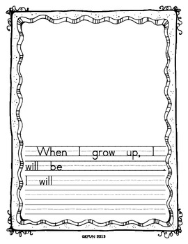 When I Grow Up...  Career Writing, Opinion Writing, Add a Photo = Too Cute!