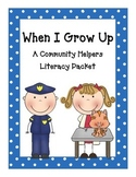 When I Grow Up- Community Helpers Packet