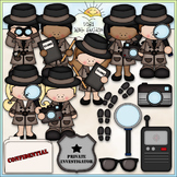 When I Grow Up: Detective - CU Clip Art & B&W Set