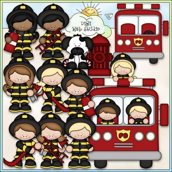 When I Grow Up: Fireman Clip Art - Firefighter Clip Art - CU Clip Art & B&W