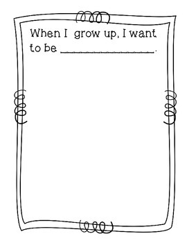 When I Grow Up {Freebie}