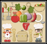 When I Grow Up.. I Wanna Be.. A Chef ~ Kiddos Kids Jobs Careers Digital Graphics