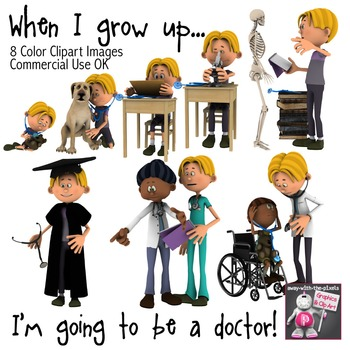 When I Grow Up I Want To Be a Doctor - Color Clip Art, Child To Doctor
