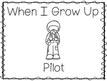 When I Grow Up I Want To Be a Pilot Preschool Worksheets and Activities