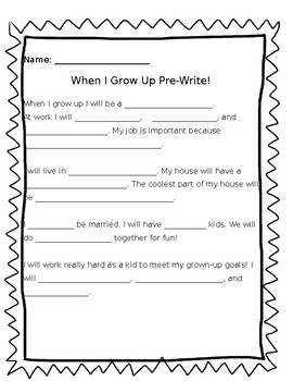 When I Grow Up Packet