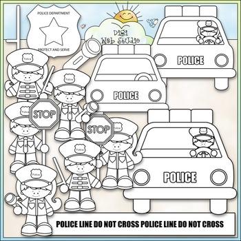 When I Grow Up: Policeman Clip Art - Police Officer Clip Art - CU Clip Art & B&W