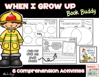 When I Grow Up Reading Activities