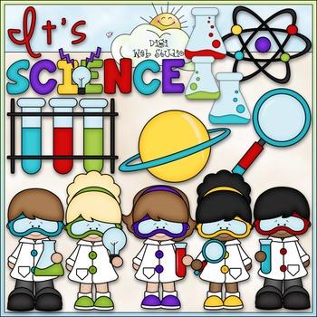 When I Grow Up: Scientist - CU Clip Art & B&W Set