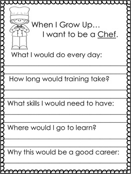 When I Grow Up {Student Created Career Journal}