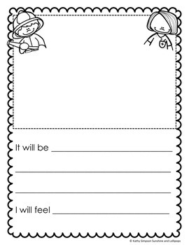 When I Grow Up Writing, Presentation Idea and Charade Task Cards for First Grade