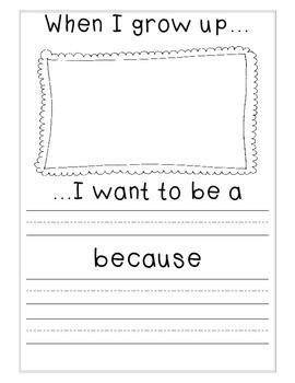 When I Grow Up Writing Printable