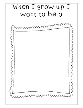 Hilaire image within when i grow up printable worksheets
