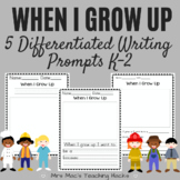 When I Grow Up Writing Prompts K-2