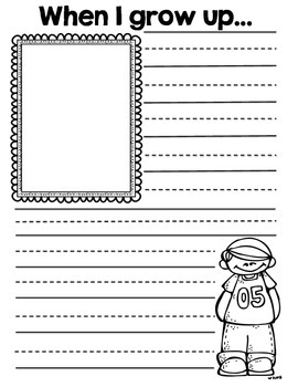when i grow up writing template by kayla in the classroom tpt. Black Bedroom Furniture Sets. Home Design Ideas