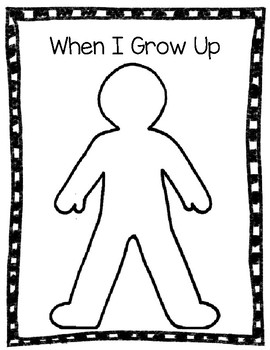 When I Grow Up Worksheet Teaching Resources | Teachers Pay Teachers
