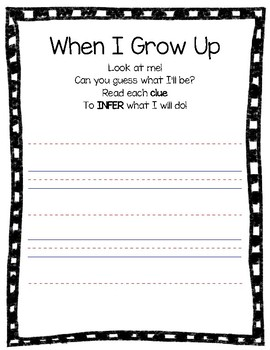 When I Grow Up: Writing to Infer