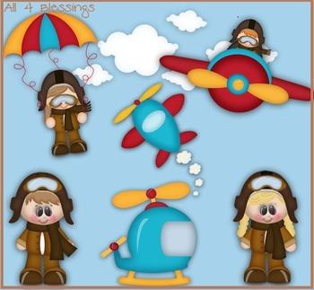 When I Grow Up..I wanna be An Aviator Clipart CLIP ART Cu OK ~ CAREER Job PILOT
