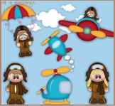 When I Grow Up..I wanna be An Aviator Clipart CLIP ART Cu