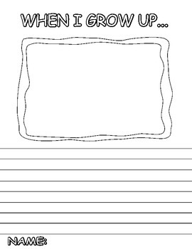 When I Grow up Picture Border Writing Sheet