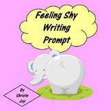 Feeling Shy Social Story and Writing Prompt