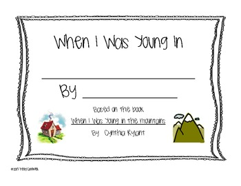 When I Was Young In.....activity book
