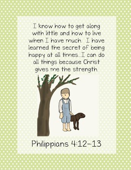 When I Was Young in the Mountains Bible Verse Printable (Philippians 4:12-13)