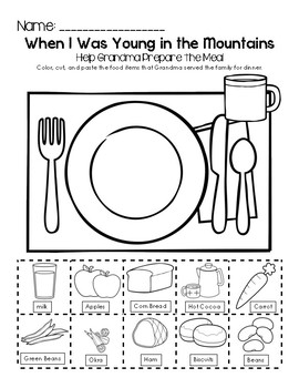 When I Was Young in the Mountains - Help Grandma Prepare the Meal Worksheet