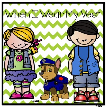 When I Wear My Vest Social Story for Weighted and Pressure Vests