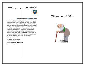 When I am 100 -- A 100th Day Freebie!